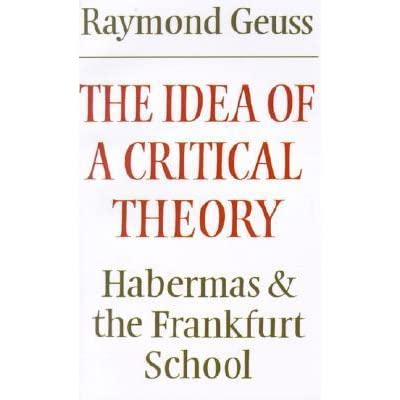 new essays on the frankfurt school of critical theory Specific to a critical theory of society in the frankfurt school  international summer school critical theory  and the new school for.