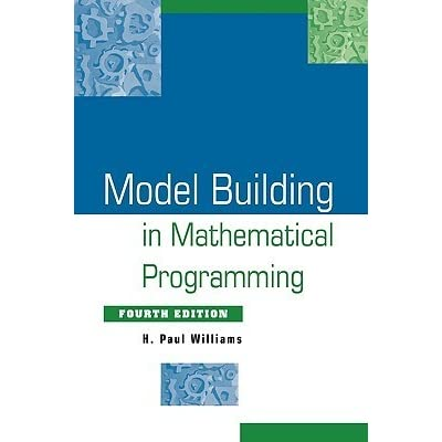 model building in mathematical programming by h paul williams reviews discussion bookclubs. Black Bedroom Furniture Sets. Home Design Ideas