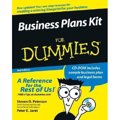 Business Plans Kit For Dummies By Steven D Peterson