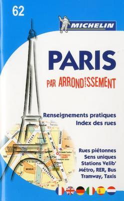 Michelin Map Paris  by  Arrondissements (Saddle-Stitched) No. 62 by Michelin