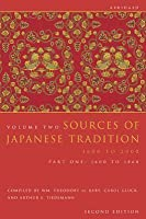 Sources of Japanese Tradition, Abridged: 1600 to 2000; Part 2: 1868 to 2000
