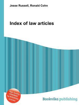 Index of Law Articles Jesse Russell