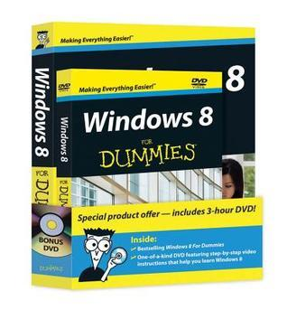 Windows 8 For Dummies Book + DVD Bundle Andy Rathbone
