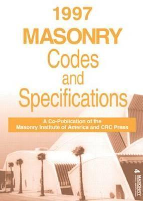 1997 Masonry Codes and Specifications John Crysler