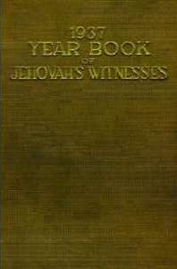 1937 Yearbook of Jehovahs Witnesses  by  Watch Tower Bible and Tract Society