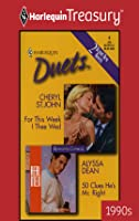 For This Week I Thee Wed / 50 Clues He's Mr. Right (Harlequin Duets, #6)