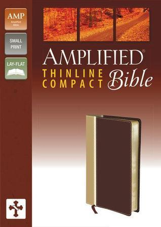 Amplified, Thinline Bible, Compact, Imitation Leather, Tan/Burgundy, Lay Flat Anonymous