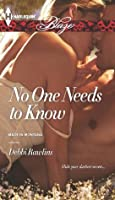 No One Needs to Know (Made in Montana, #5)