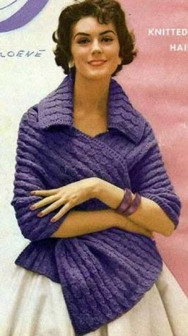 THE ADAGIO KNITTED SHAWL / STOLE - A Vintage 1950s Knitting Pattern Northern Lights Vintage