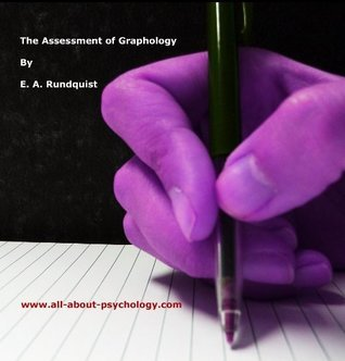 The Assessment of Graphology  by  E.A. Rundquist