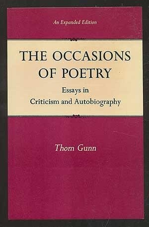 Occasions of Poetry  by  Thom Gunn