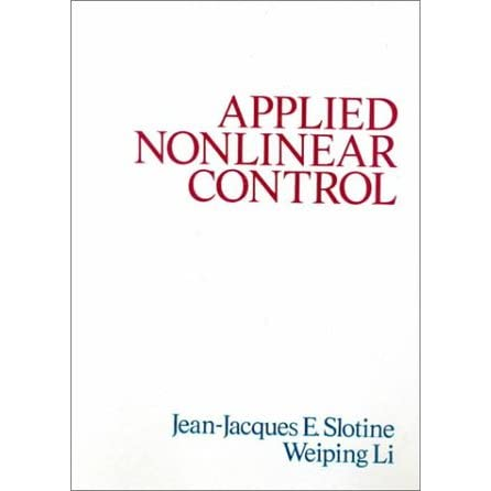 Applied Nonlinear Control - Jean-Jacques Slotine
