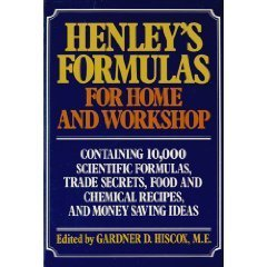 Henley's Formulas for Home & Workshop - Gardner Dexter Hiscox