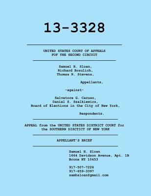 Appellants Brief in Sloan vs. Caruso to Us Court of Appeals  by  Sam Sloan