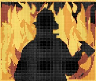 Fireman Cross Stitch Pattern  by  NOT A BOOK