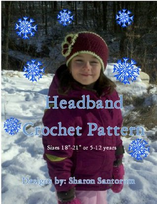Girls Wide Buttoned Crochet Headband Pattern  by  Sharon Santorum