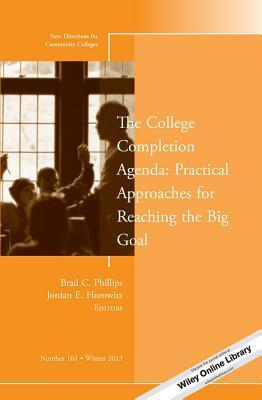 The College Completion Agenda: Practical Approaches for Reaching the Big Goal: New Directions for Community Colleges, Number 164  by  Brad C. Phillips