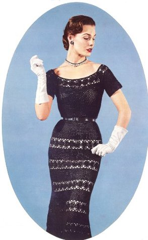 Crocheted Lace Cocktail Evening Party Dress Crochet Pattern Unknown