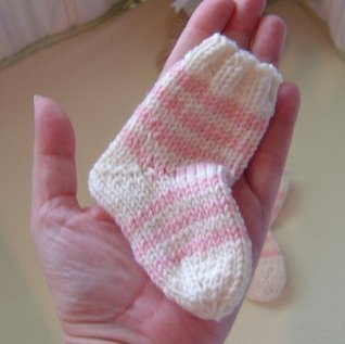 French Striped Baby Socks Knitting Pattern  by  Lucinda Segneri