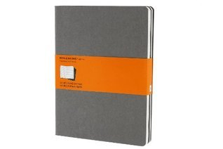 Moleskine Cahier Journal (Set of 3), Extra Large, Ruled, Pebble Grey, Soft Cover (7.5 x 10)  by  NOT A BOOK