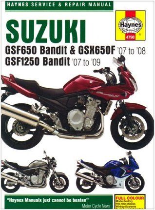 Suzuki GSF650/1250 Bandit and GSX650Fservice and Repair Manual: 2007 to 2009  by  Phil Mather