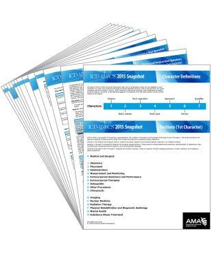 ICD-10-PCs 2015 Snapshot Card - Set  by  American Medical Association
