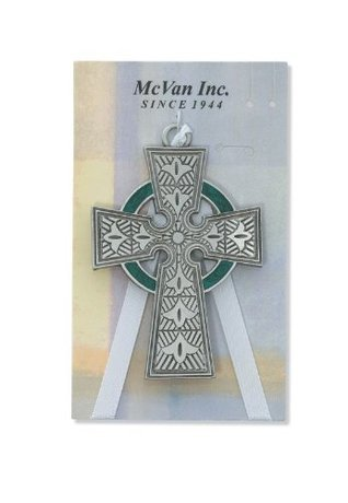 Pewter Celtic Crib Cross (McVan 147-44) - Carded  by  Unknown
