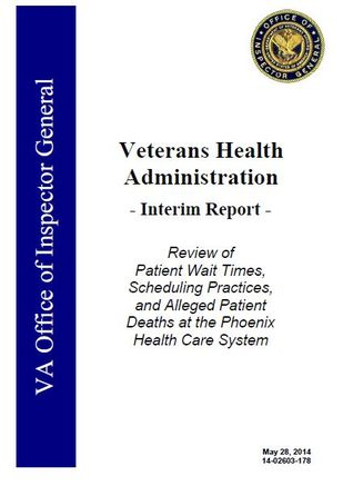 Review of Patient Wait Times, Scheduling Practices, and Alleged Patient Deaths at the Phoenix Health Care System Richard J. Griffin