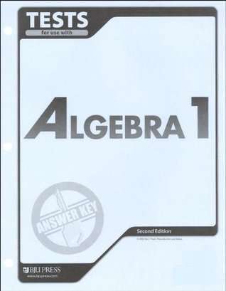 Algebra 1 Tests Answer Key  by  Bob Jones University Press