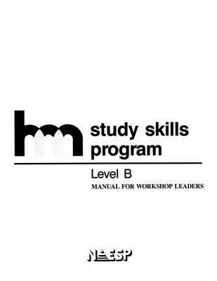 HMS Level B Manual for Workshop Leaders Study Skills Group Hm