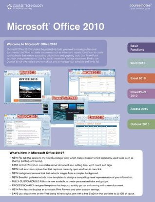 Bundle: Microsoft Office 2010 CourseNotes + Microsoft Office 2010 180-day Subscription  by  Course Technology