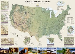 U. S. National Parks Wall Map  by  National Geographic Society