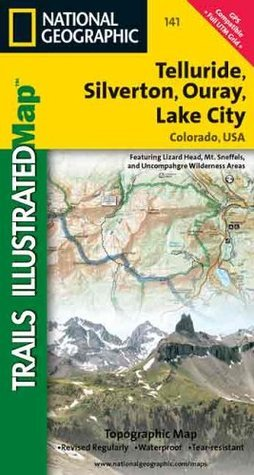 Telluride, Silverton, Ouray, Lake City Topo Map National Geographic