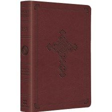 ESV Compact TruTone Bible - Antique Cross Crossway