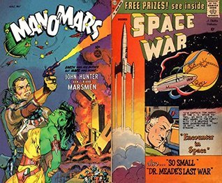 Man O Mars and Space War. Issues 1 and 2. Features John Hunter of the Marsmen and Encounter in space. Golden Age Digital Comics Science Fiction Golden Age Science Fiction Comics