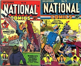 National Comics. Issues 15 and 18. Uncle Sam, Wonder Boy, Merlin, Pen Miller, Kid Dixon and others. Golden Age digital comics superheroes and Heroines.  by  Golden Age Heroes and Heroines Comics