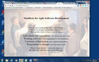 Manifesto for Agile Software Development  by  Kent Beck