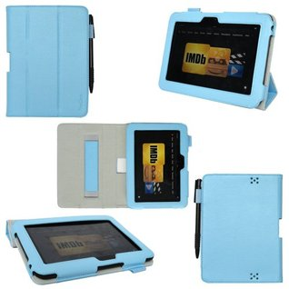 ProCase Slim Leather Case for Amazon Kindle Fire HD 7-Inch Tablet Built-in Smart Cover auto sleep /wake feature Xuan Se