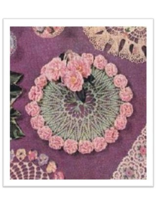 #2615 CARNATION LEI DOILY VINTAGE CROCHET PATTERN  by  Princess of Patterns