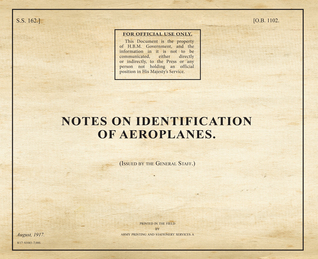 Notes on Identification of Aeroplanes  by  War Office