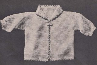 Infant Sacque Baby Sweater Jacket Crochet Pattern Charlie Cat Patterns