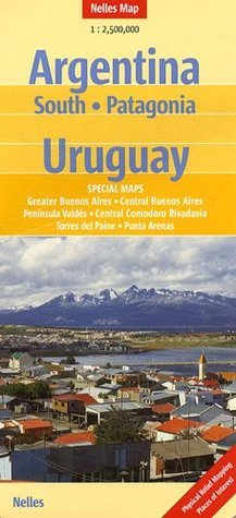 Southern Argentina, Patagonia and Uruguay Nelles Map  by  Nelles Verlag