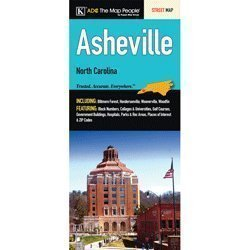 Asheville, NC Folded Map  by  Universal Map (Firm)