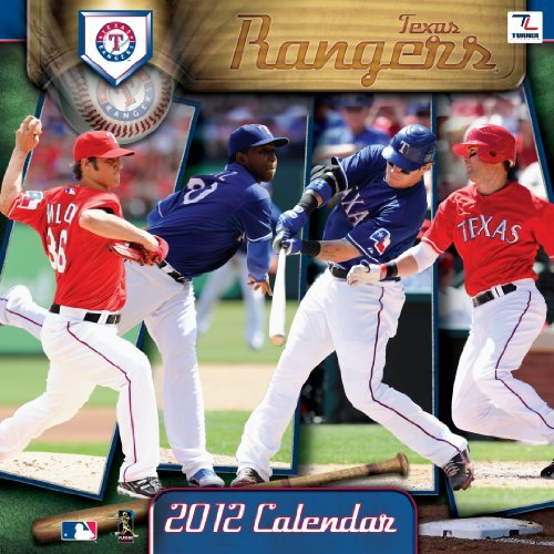 2012 TEXAS RANGERS 12X12 WALL CALENDAR  by  Perfect Timing - Turner