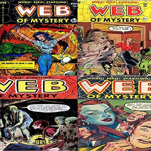 Web of Mystery. Issues 7, 8, 26 and 27. Weird, Eerie Startling. Features the haunts of devils lake. Golden Age Digital Comics. Digital Sky Comic Compilations Paranormal, Horror and Mystery Digital Sky Comic Compilations