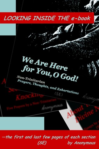 Looking Inside the e-book 'We Are Here for You, O God!'—the first and last few pages of each section Anonymous