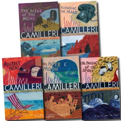 The Inspector Montalbano Collection Andrea Camilleri 5 Books Set (Volume 6 To 10) (The Scent of the Night, Rounding the Mark, The Patience of the Spider, The Paper Moon, August Heat)  by  Andrea Camilleri
