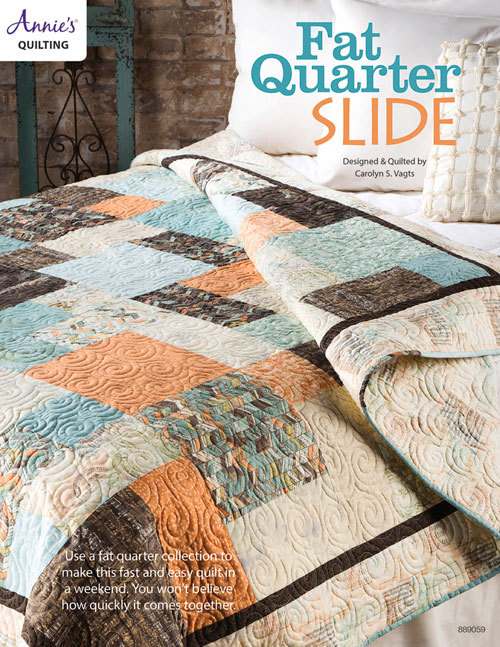 Fat Quarter Slide Quilt Pattern  by  Annies