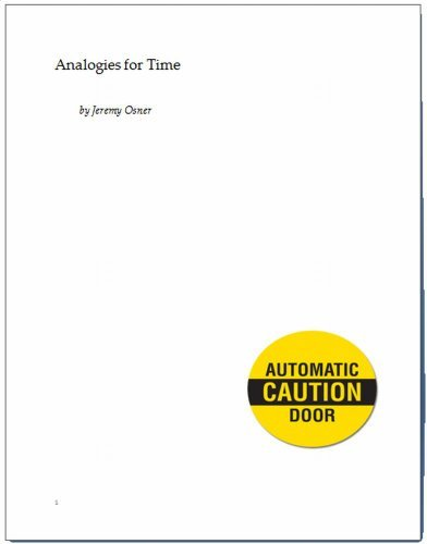 Analogies for Time Jeremy Osner