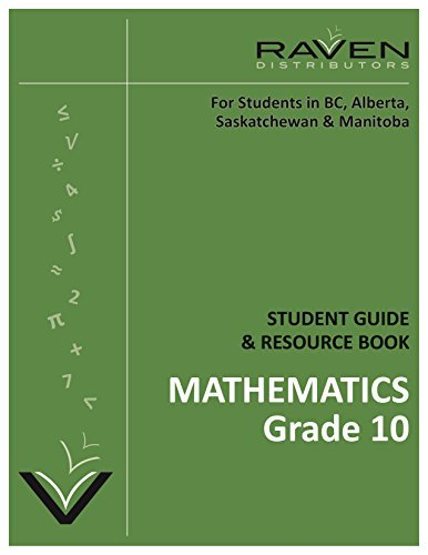 Ravens Guide to British Columbia Foundations of Math and Pre-Calculus (Grade 10) Alan R. Taylor Ed. D.